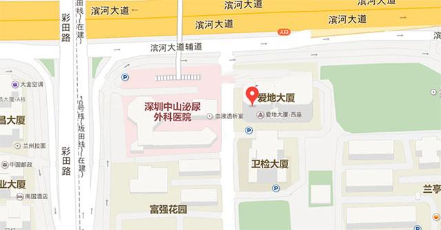深圳优眠临床心理专科地图